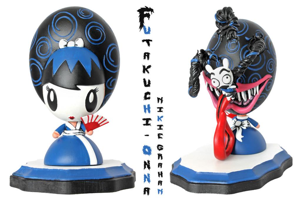 Futakuchi-Onna Lollygag custom by Mikie Graham front and back