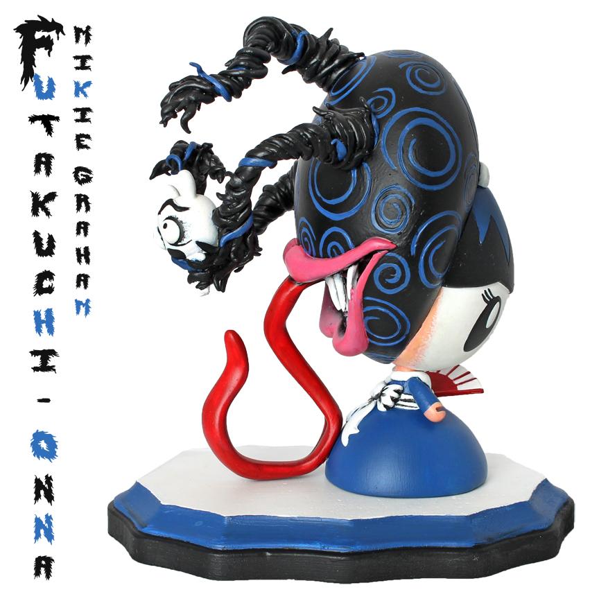 side shot Futakuchi-Onna Lollygag custom by Mikie Graham