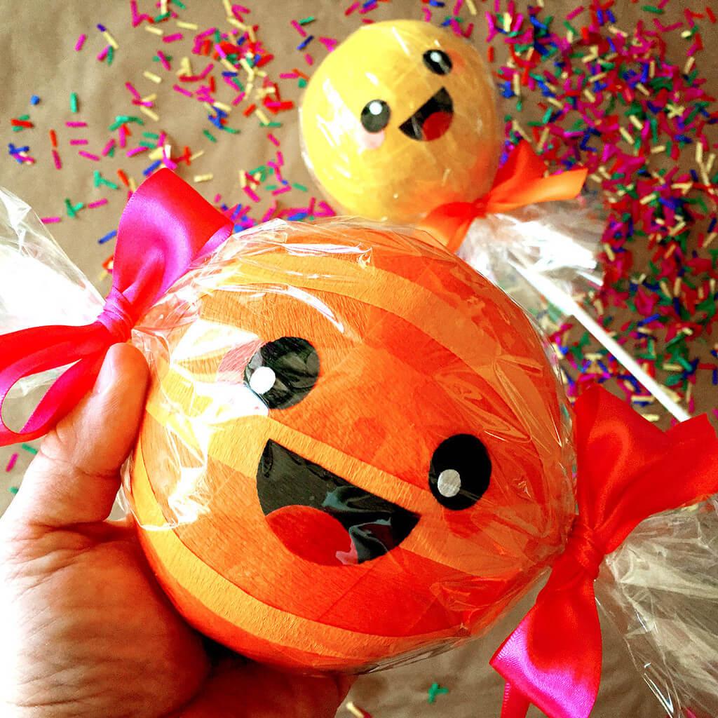 Kawaii Surprise Balls Workshop with Robert Mahar at Leanna Lins Wonderland orange lollypop
