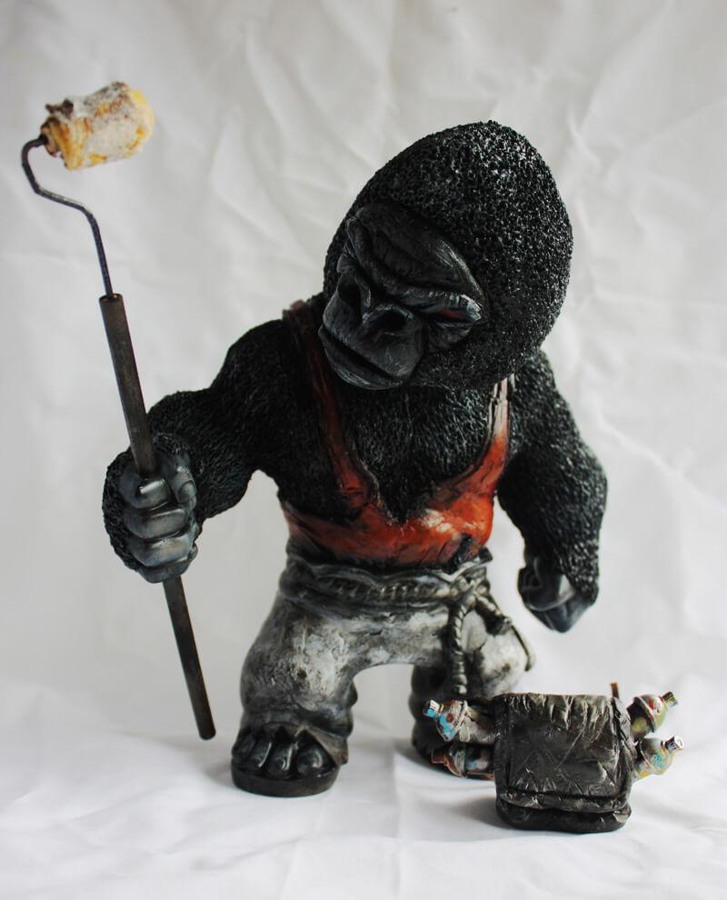 Street Art Gorilla by Don P