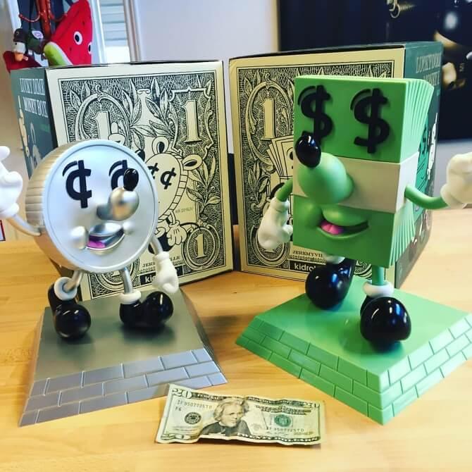 LUCKY DOLLAR Money banks by Jeremyville x Kidrobot x bigshottoyworks