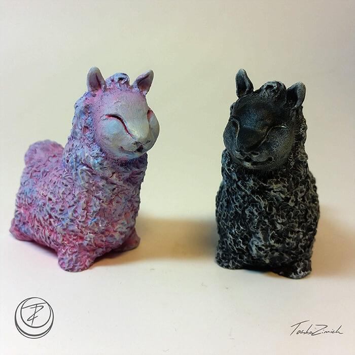 Llamas _painted 1