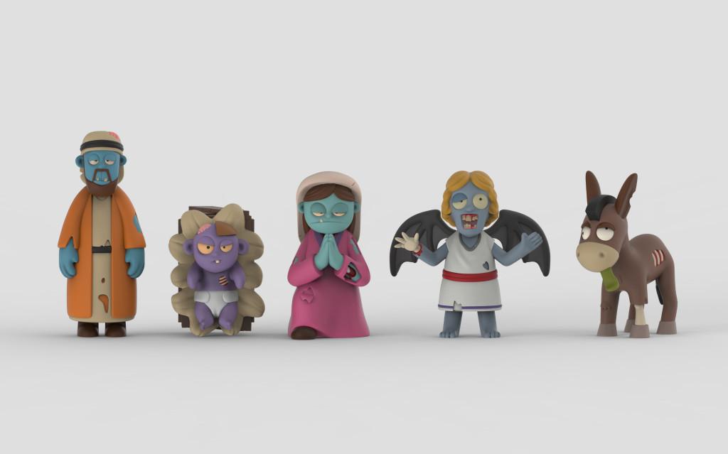 Nativity_front The Zombie Nativity Kickstarter by NerdTalk Toys LLC