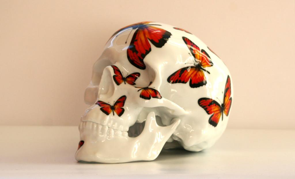 Skull Red Butterfly by NooN x K Olin tribu