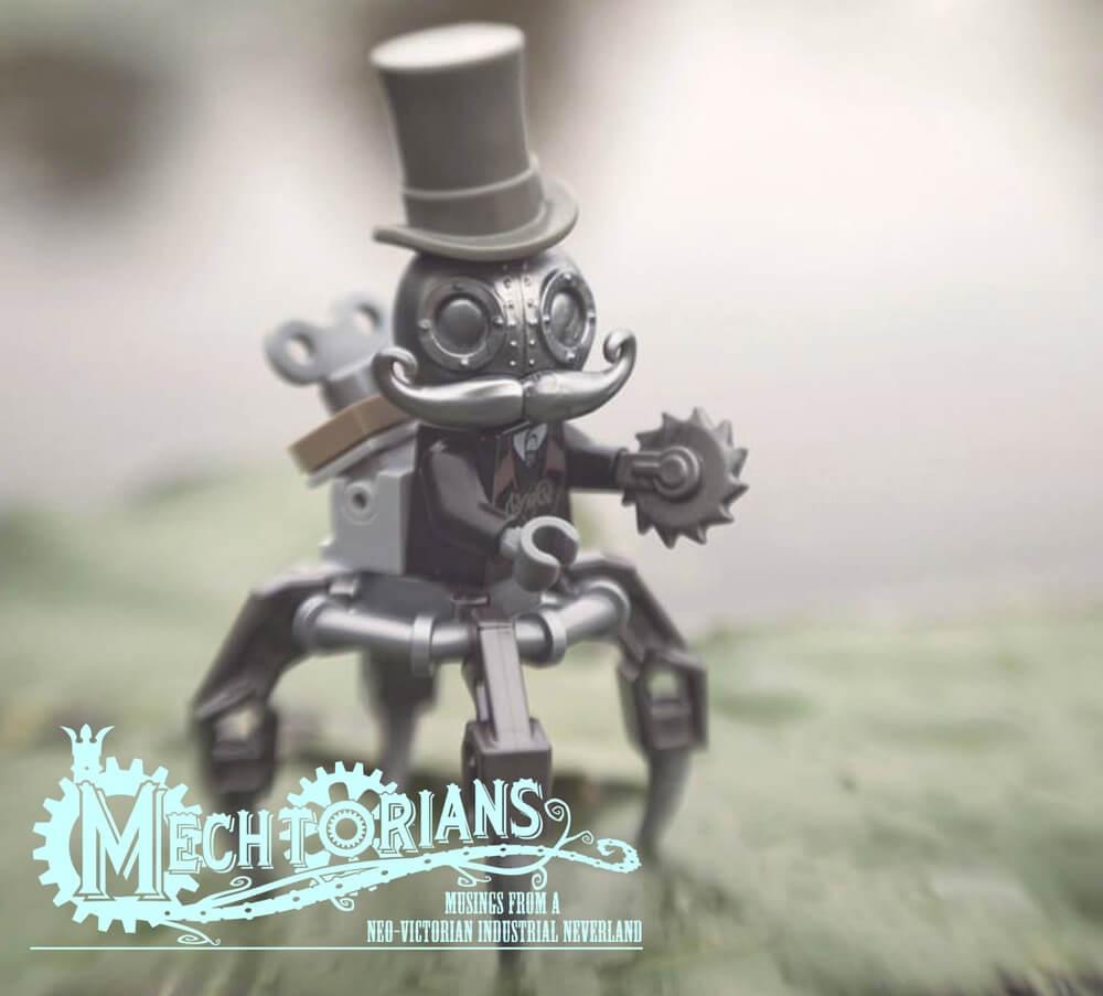 silver MECHTORIAN crazybricks doktor A lego minifig