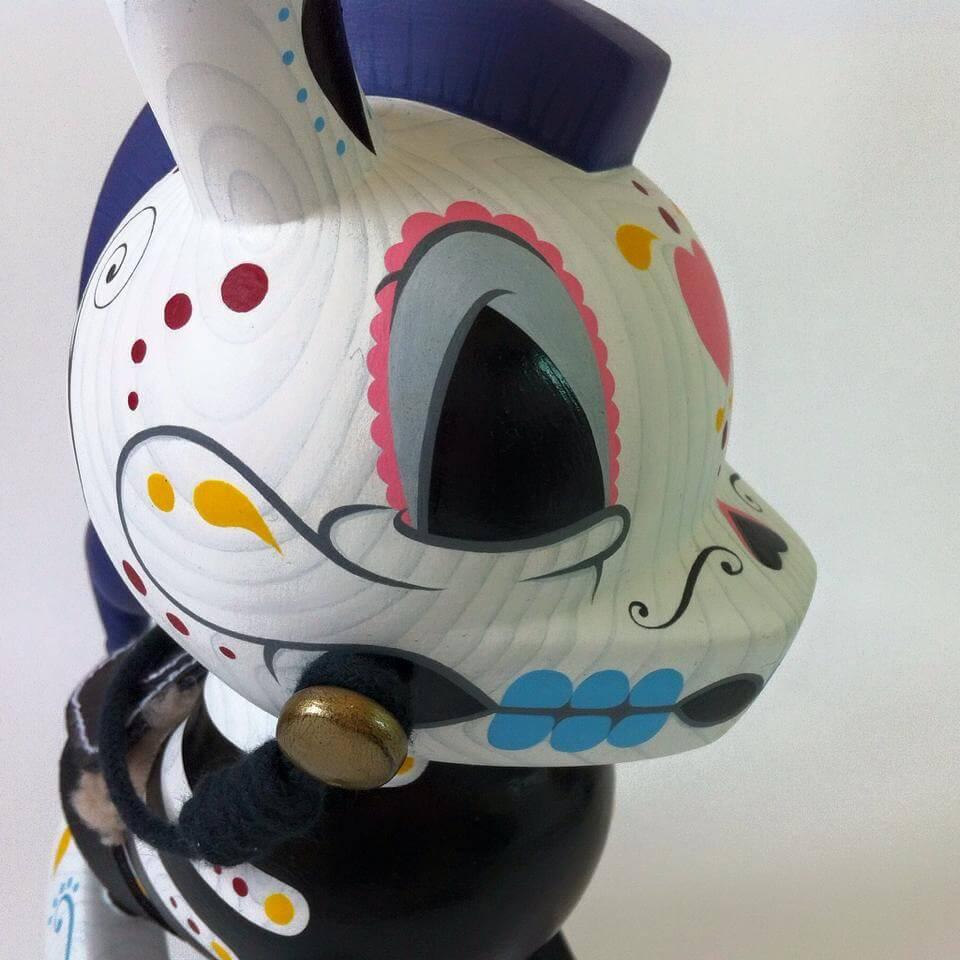 8inch The-death-of-Innocence-Dunny-by-Igor-Ventura-Kidrobot Dia de los muertos head