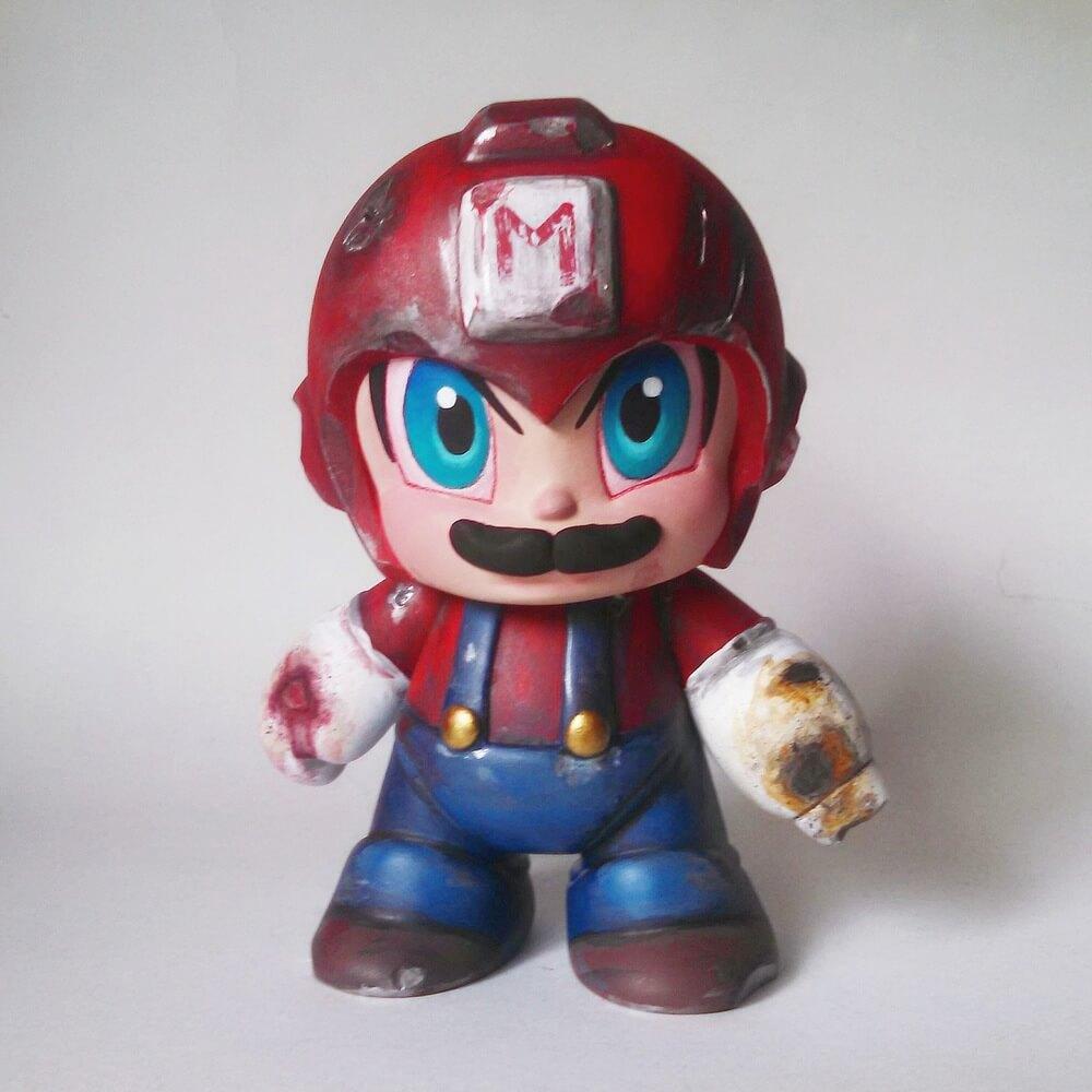 Mega Mario by Daniel Fleres vinyl toy kidrobot