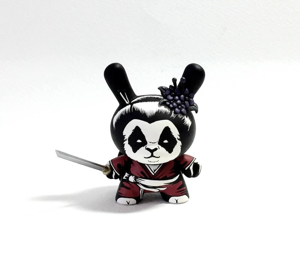 The Seven Panda Samurai custom Series by Jon Paul Kaiser Kidrobot Dunny