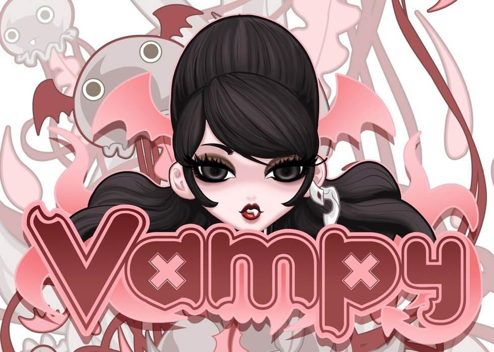 Vampy Bite Me banner logo