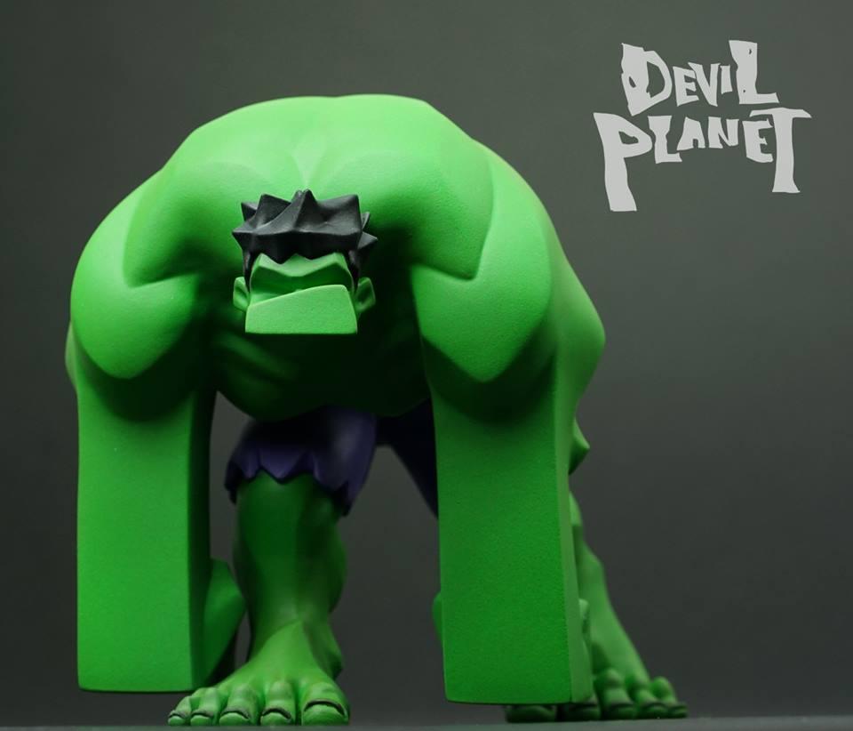 Devil Planet HULK by Kang Goon Minjung kang x TJ Cha green HULK  face