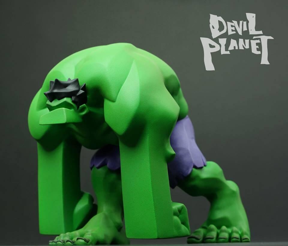 Devil Planet HULK by Kang Goon Minjung kang x TJ Cha green HULK front