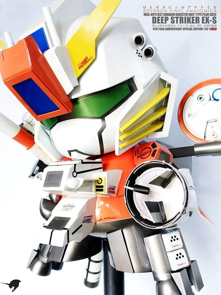 MSA-0011 BST Gundam Plan 303E Deep Striker by ROTOBOX Vinyl Anatomica Kidrobot Mega Munny 2
