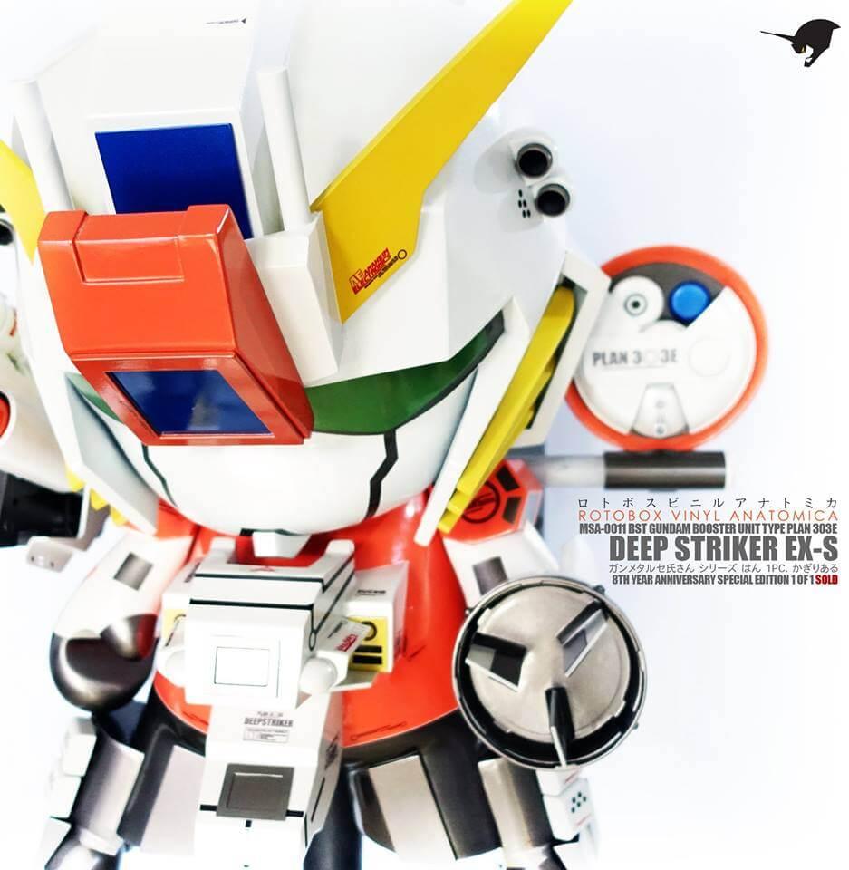 MSA-0011 BST Gundam Plan 303E Deep Striker by ROTOBOX Vinyl Anatomica Kidrobot Mega Munny eye
