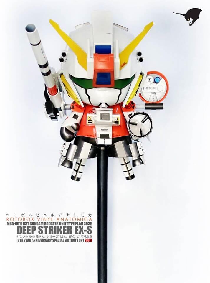 MSA-0011 BST Gundam Plan 303E Deep Striker by ROTOBOX Vinyl Anatomica Kidrobot Mega Munny far