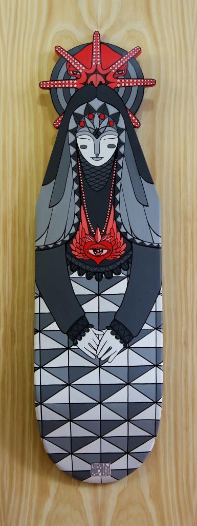 Inuit Goddess By Ghettoplastic Toys Sadgas SKATE DECK