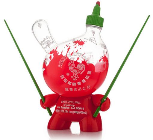 SKET ONE x Huy Fong Foods SKETRACHA KIDROBOT DUNNY 8 Inch AP RELEASE