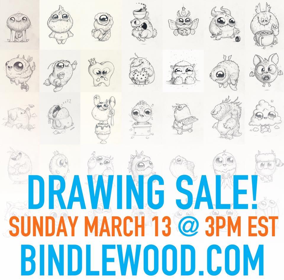 Drawing sale Chris Ryniak morning scribbles