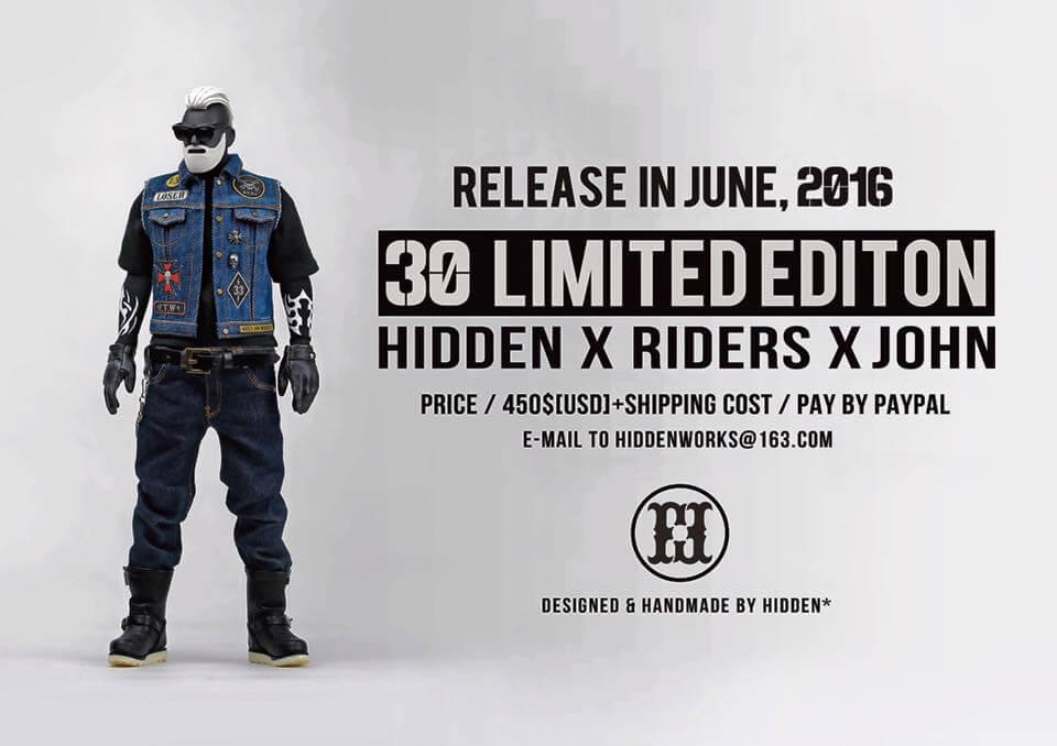 Hidden x Riders x John release action figure