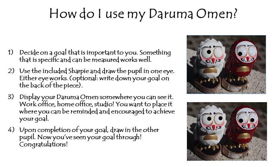 How do I use my Daruma Omen