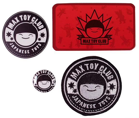 Max Toy Club Membership Kit patches