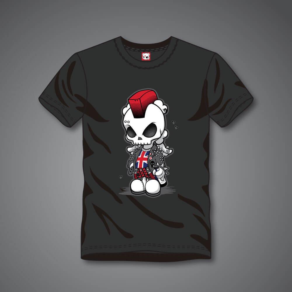 UK Punk Skullhead T-shirt - Mens