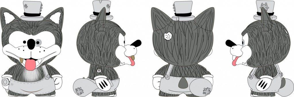Willy the Wolf - Medium Figure Shiffa x Kidrobot vinyl Trikky
