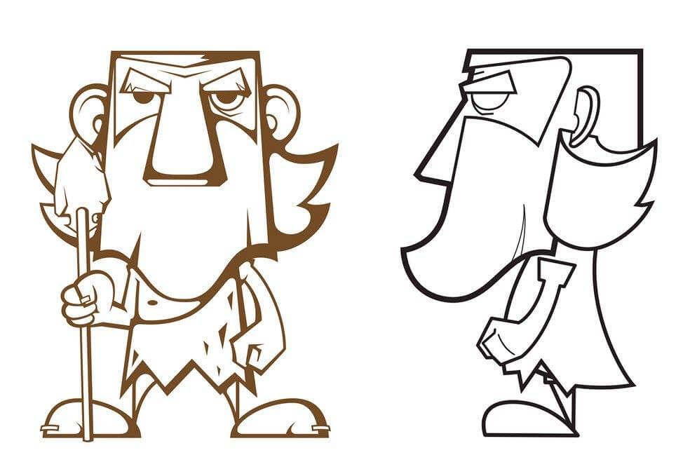 Caveman illustrator by Black Toy