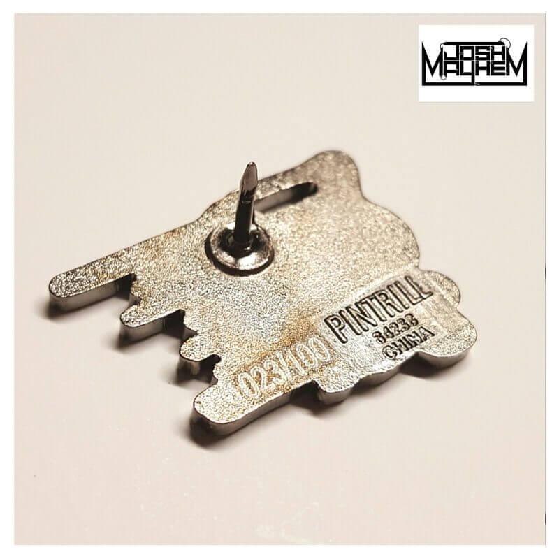 Josh Mayhem Presents Limited Edition Blown Away Dunny Pins back