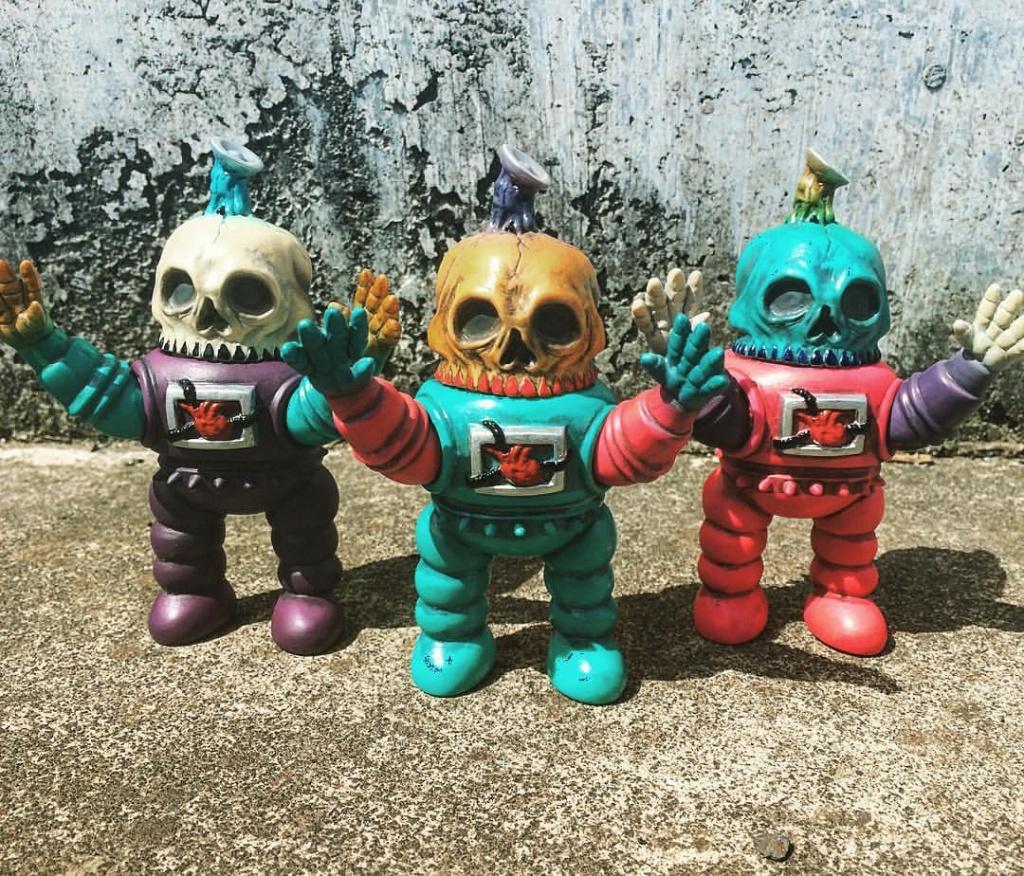 Astro Skullbot Soft Vinyl Garden x KENTH TOY WORKS Oz comic con