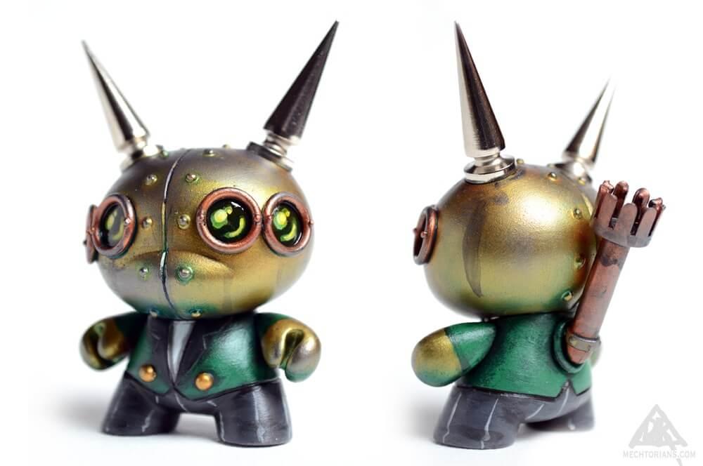 Customised Mechtorian Dunny 2016 kidrobot DOktor A mechtorian spikes