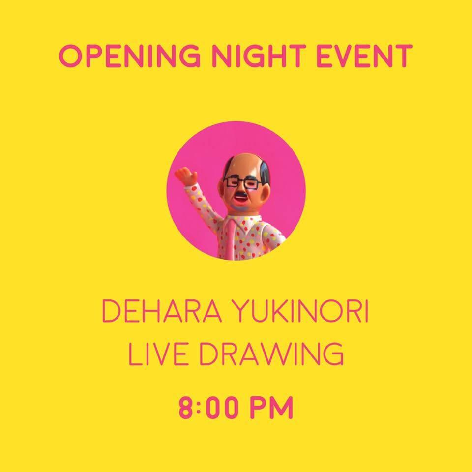 DEHARA YUKINORI Strange Friends In The Hood Solo Exhibition Everyday Mooonday live
