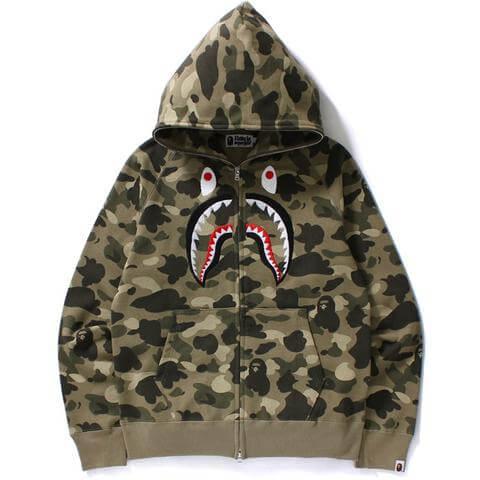 BAPE full zip shark hoodie