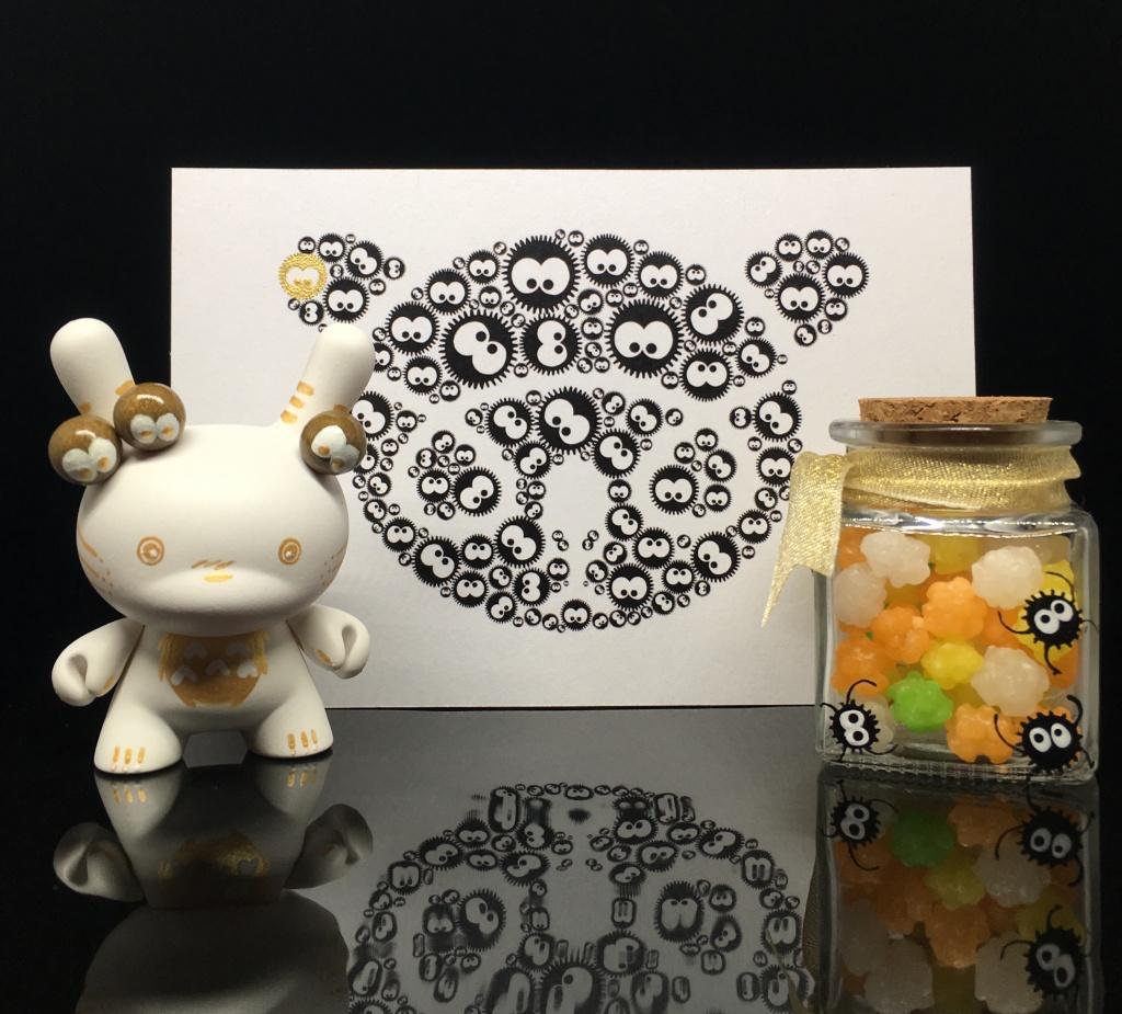 Custom Totoro Dunny Shinobistinks x Woot Bear Exclusive 3