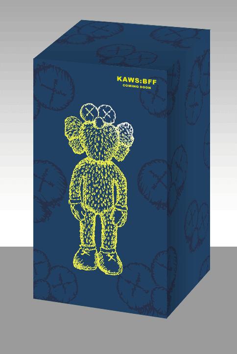 KAWS BFF thailand fake white cookie monster elmo box