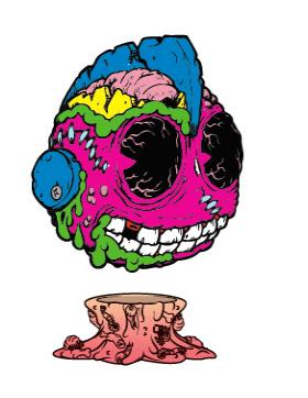 Madballs Medium Vinyl – Bot Head x Kidrobot