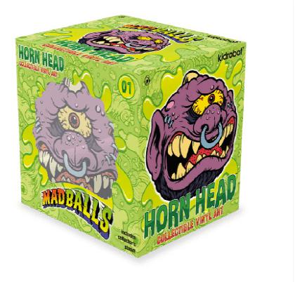 Madballs Medium Vinyl – Horn Head x Kidrobot box art