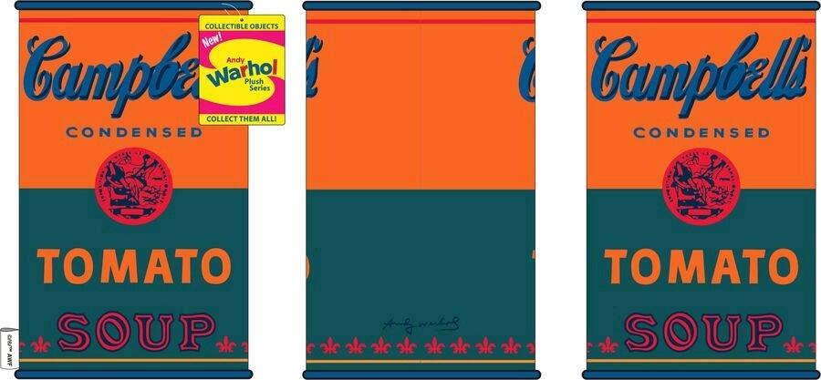 Andy Warhol kidrobot Soup Can 10 Medium Plush