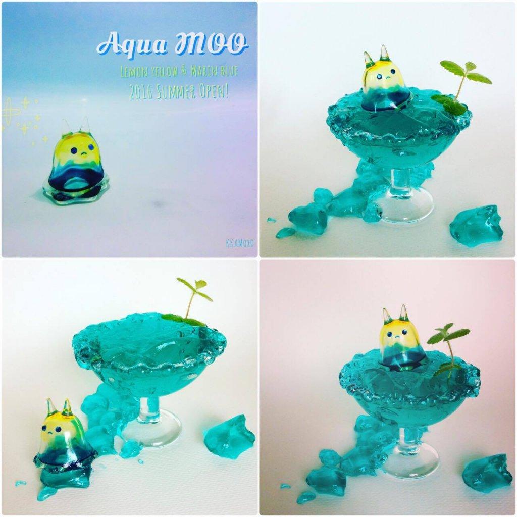 Aqua baby moo yellow blue 25 usd