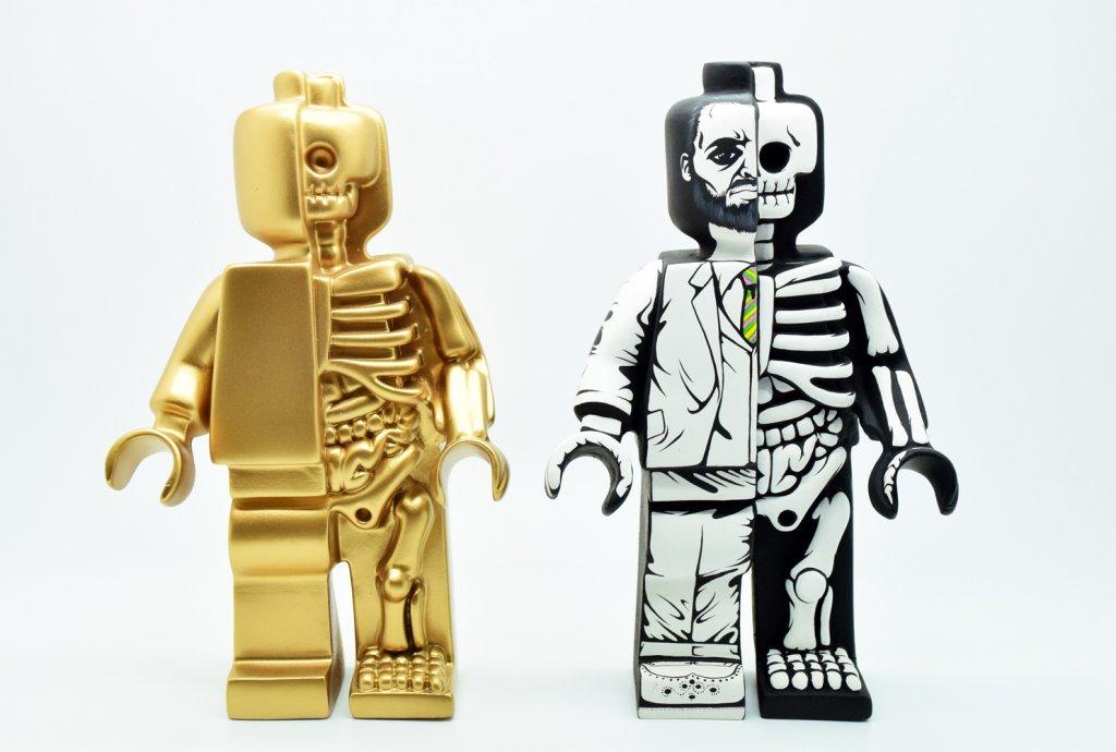 Dissected Lego Anatomical By Jason Freeny mighty Jaxx Jon paul kaiser custom JPK BIG