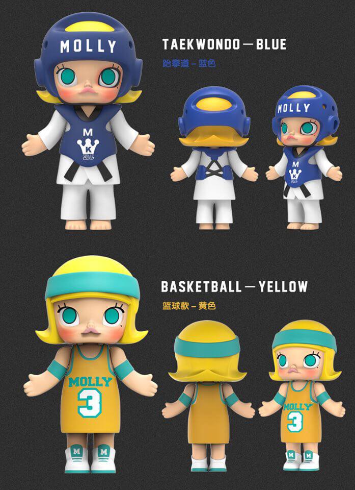 Kennyswork x Pop Mart Molly Sport blind box series 2016 basketball