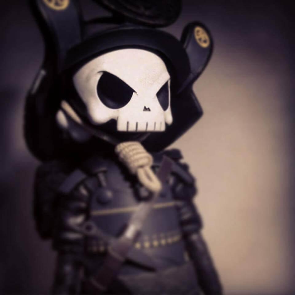 Ronin Skullhead rebel WIP Huck Gee 2petalrose