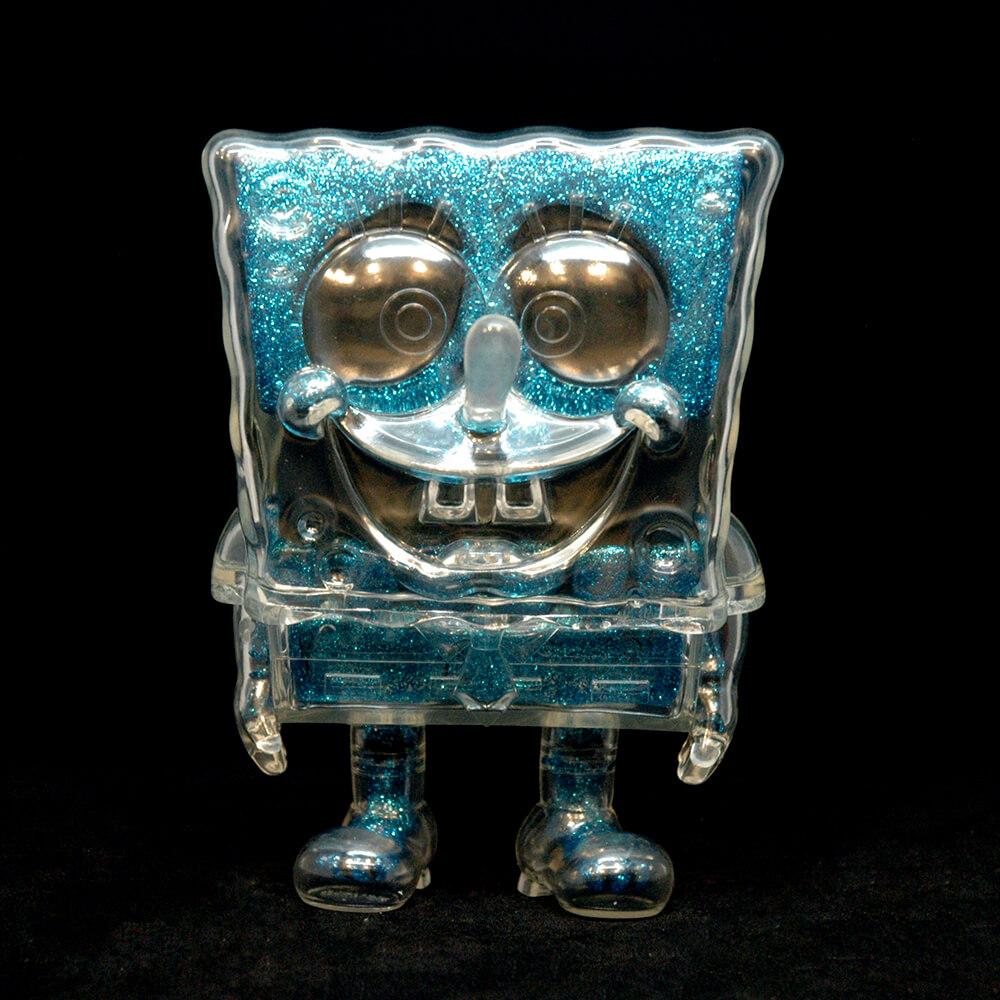 SPONGEBOB DX BLUE GLITTER BY SECRET BASE X TOY ART GALLERY