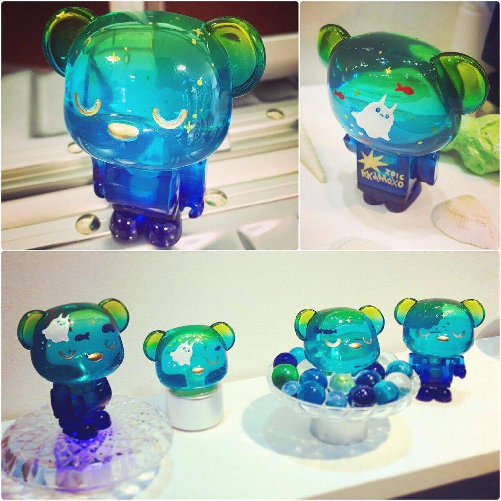 This is Aqua KuuaGom collaboration clear resin 100 usd