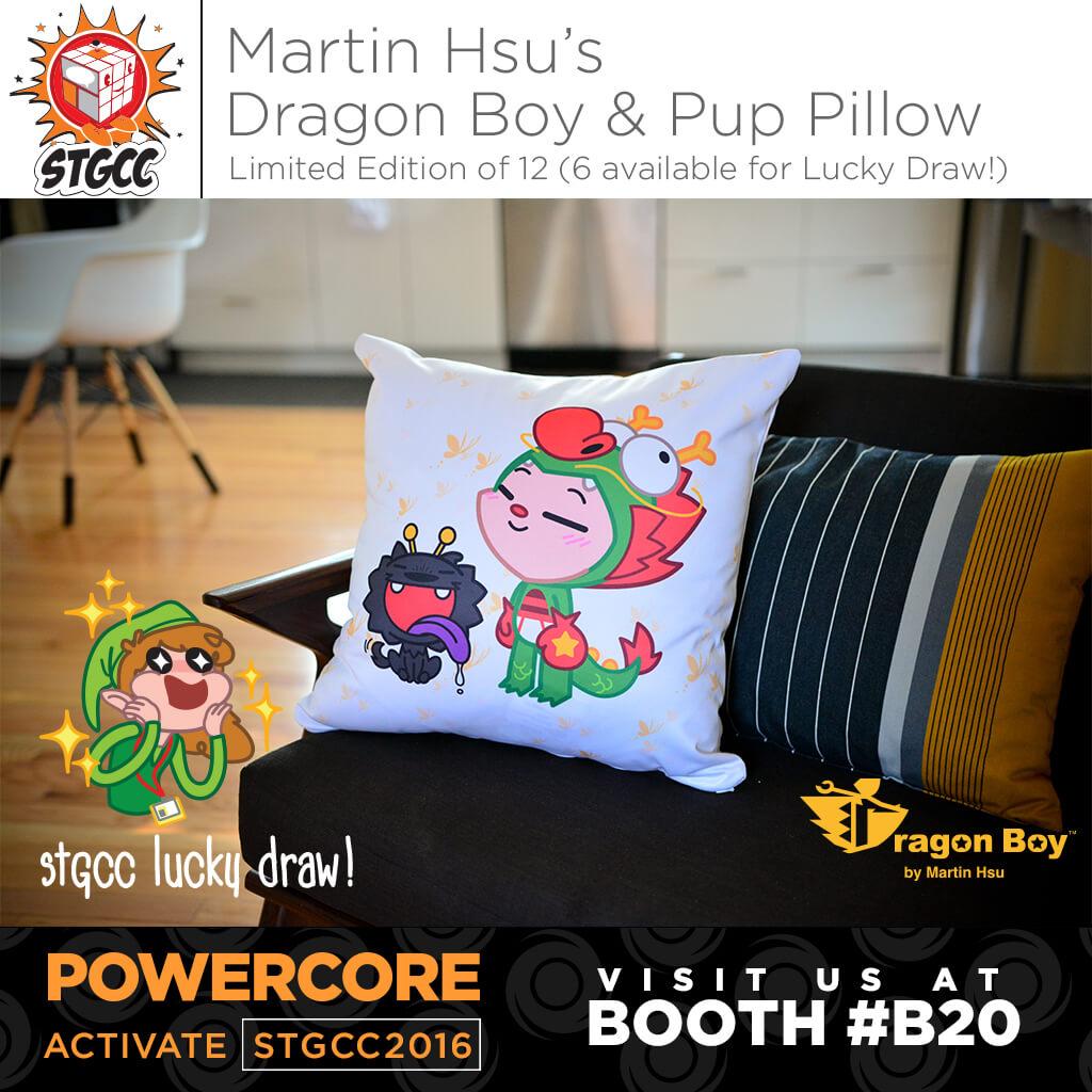 STGCC2016-Exclusive-Martin-Hsu-PowerCore-Dragon-Boy-Pup-Pillow