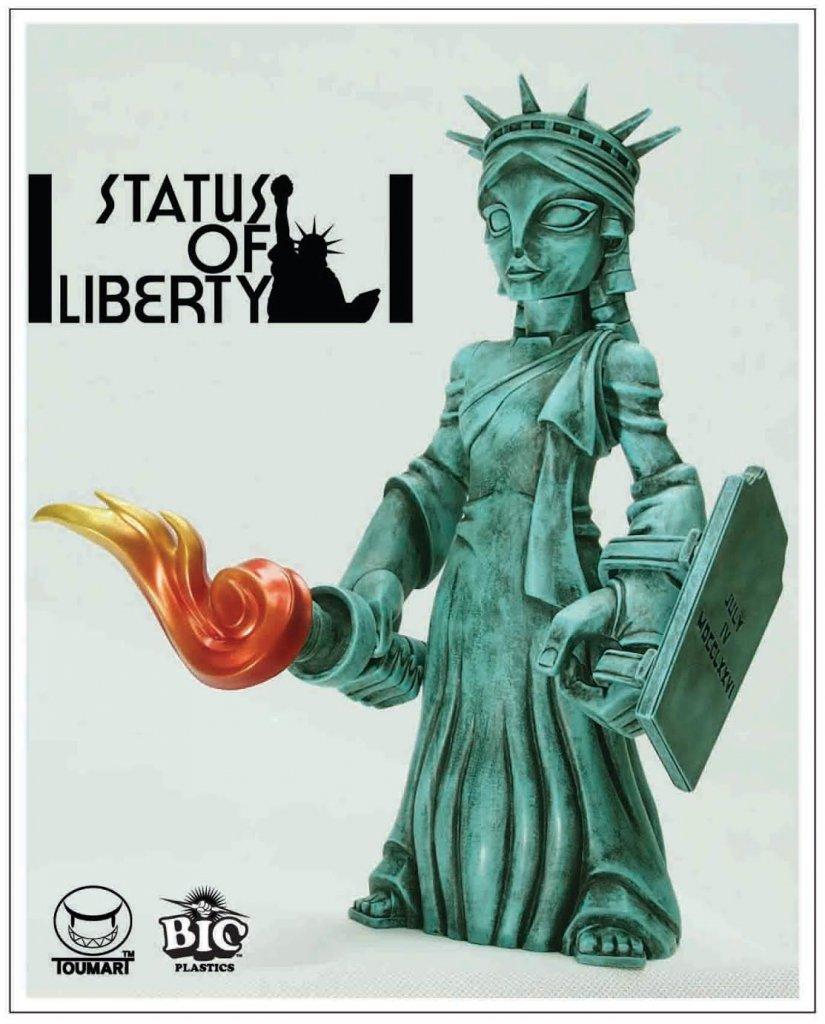 status-of-liberty-by-touma-x-bic-plastics-poster