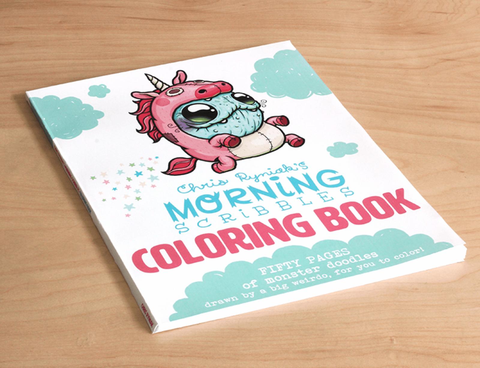 Colouring Book Chris Ryniak Morning Scribbles