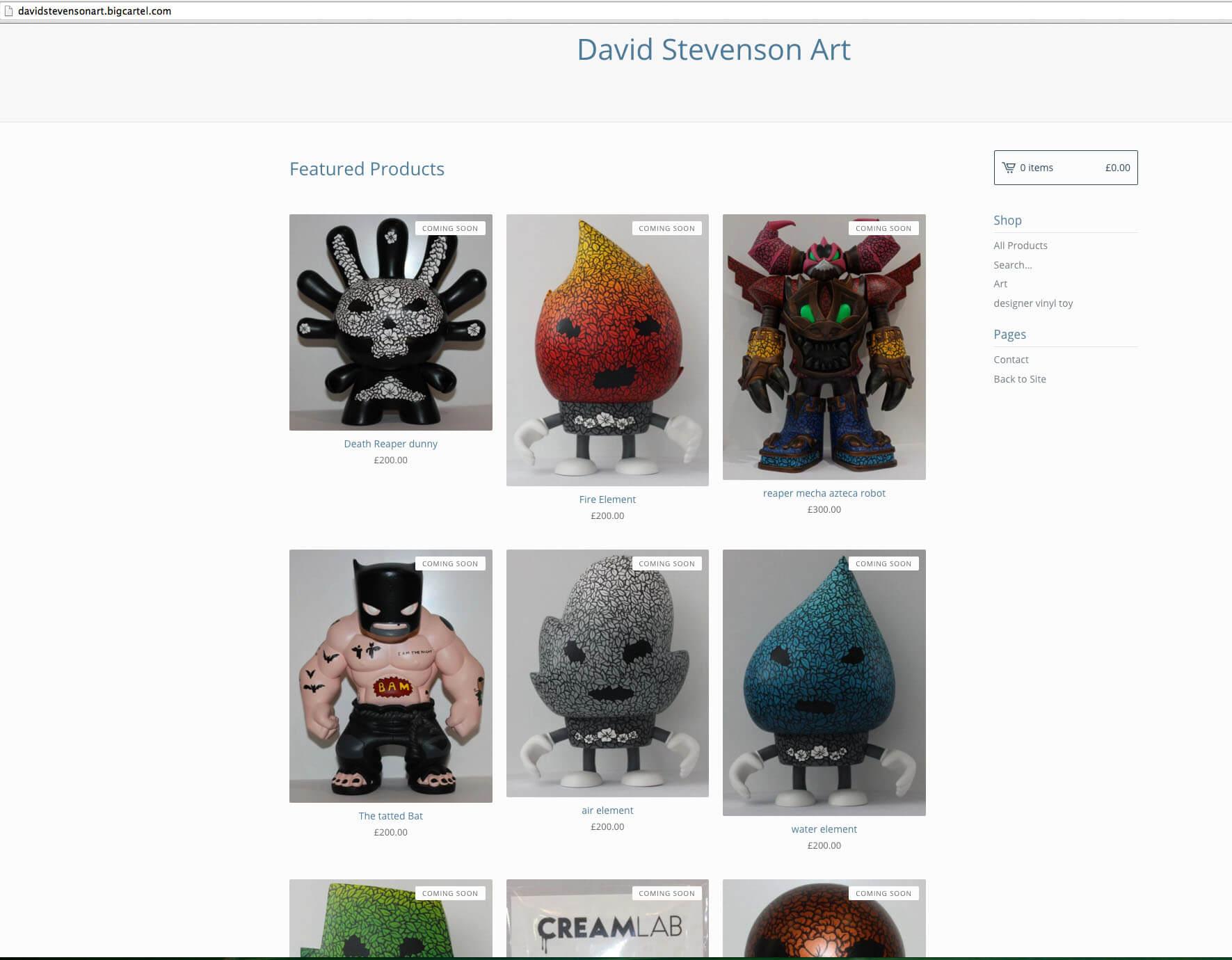 david stevenson webstore
