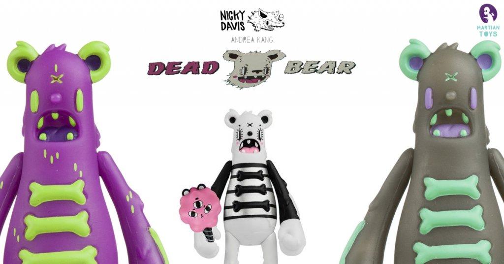 Dead Bear – Bear Bones by Nicky Davis x Andrea Kang x Nicky Davis x Martian Toys JPK