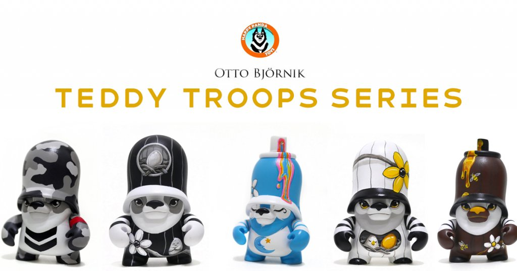 Teddy Troops Series by Otto Bjornik x Happy Panda Toys EXCLUSIVE