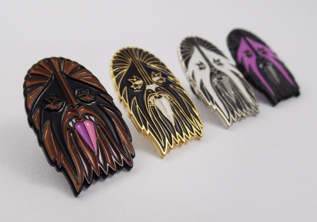 Heavy Metal Wookie Pins
